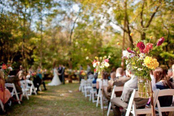 Serene Outdoor Ceremony At The Farmbasket And Indoor